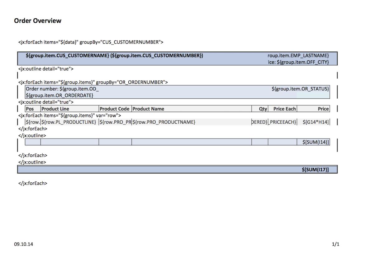 ReportServer - Benutzerhandbuch - 6. Dynamische Listen
